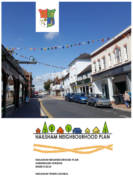 Front cover of the Neighbourhood plan paper document