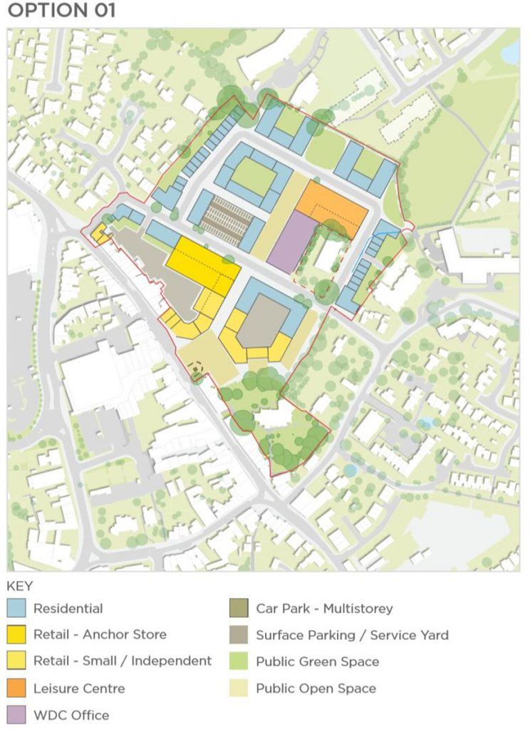 Hailsham Aspires Masterplan option 01 with key
