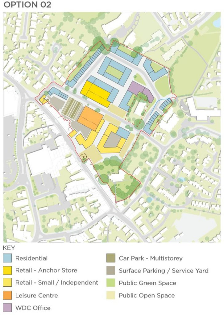Hailsham Aspires Masterplan option 02 with key