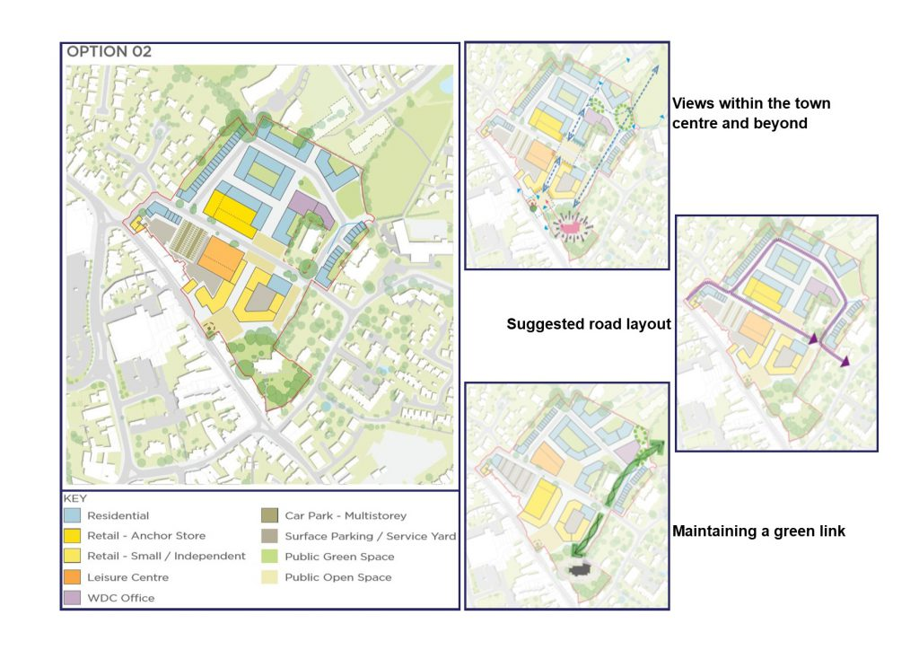 Hailsham Aspires Masterplan option 02 with key