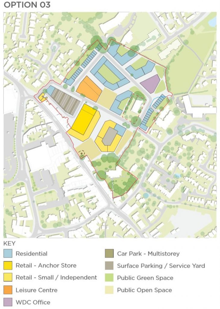Hailsham Aspires Masterplan option 03 with key