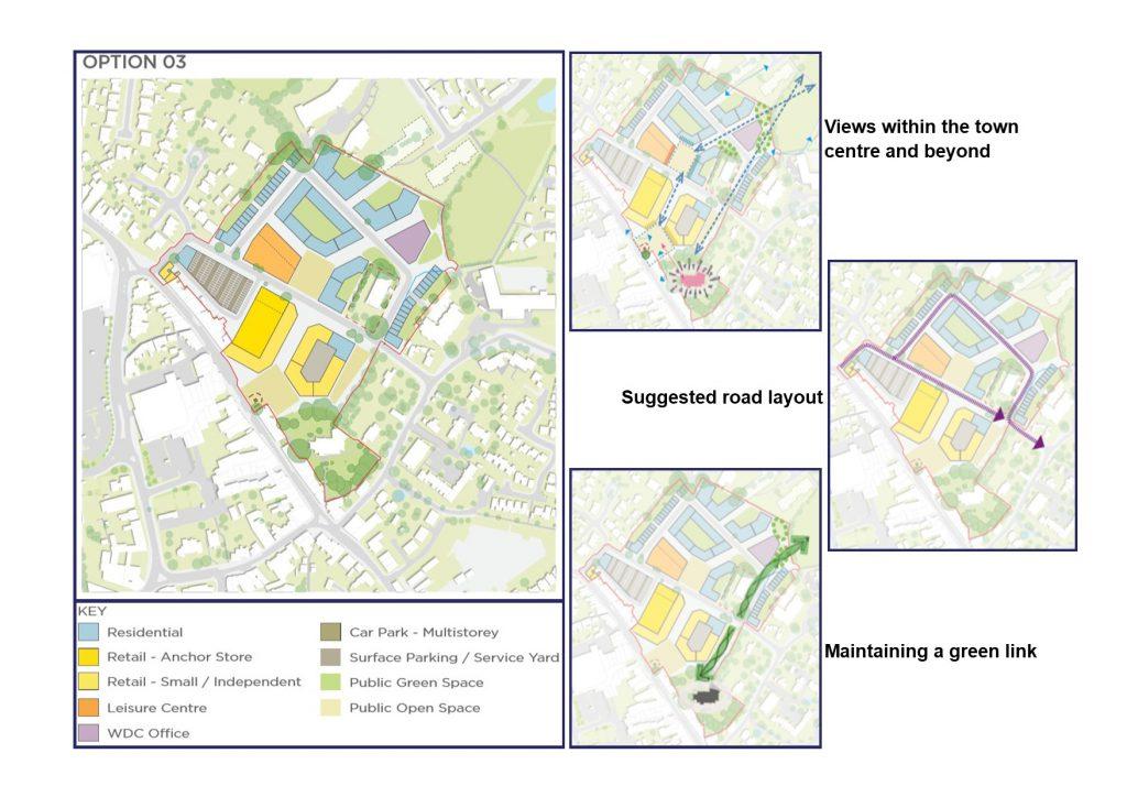 Hailsham Aspires Masterplan option 03 with key